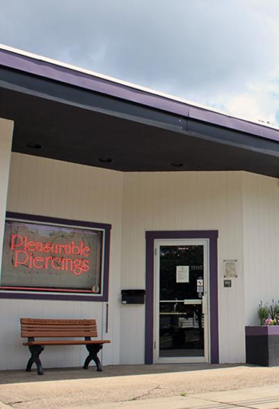 Pleasurable Piercings shop.